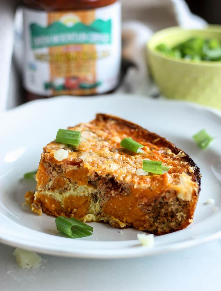 5 Ingredient Chorizo Salsa Breakfast Bake