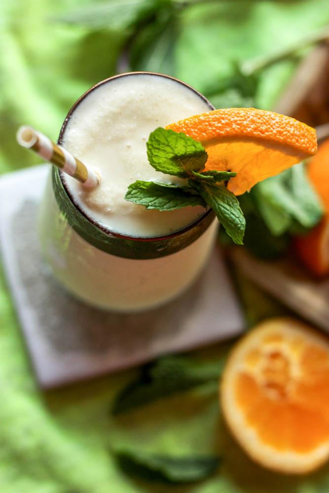 Orange Creamsicle Milkshake with Turmeric