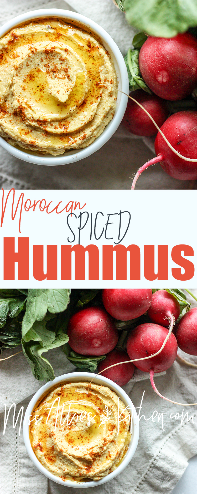 Moroccan Spiced Hummus made from scratch!
