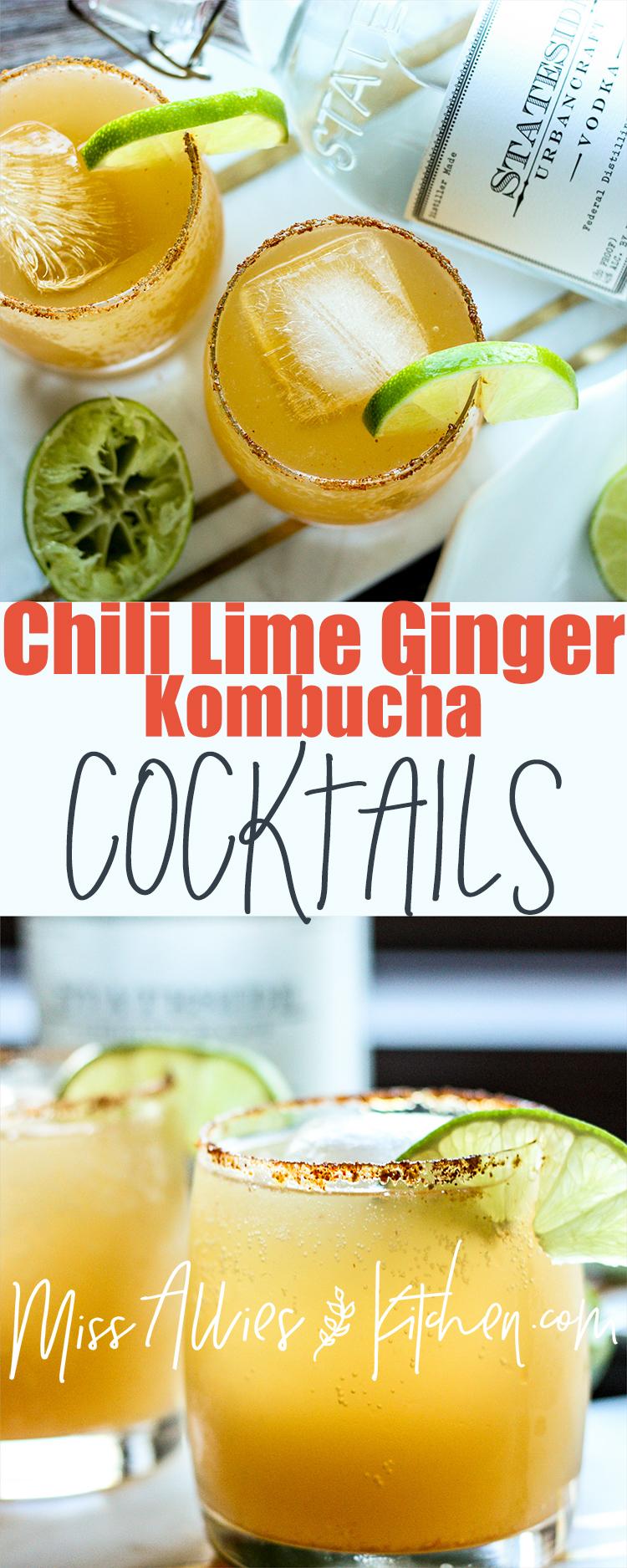 Make these Chili Ginger Kombucha Cocktails!