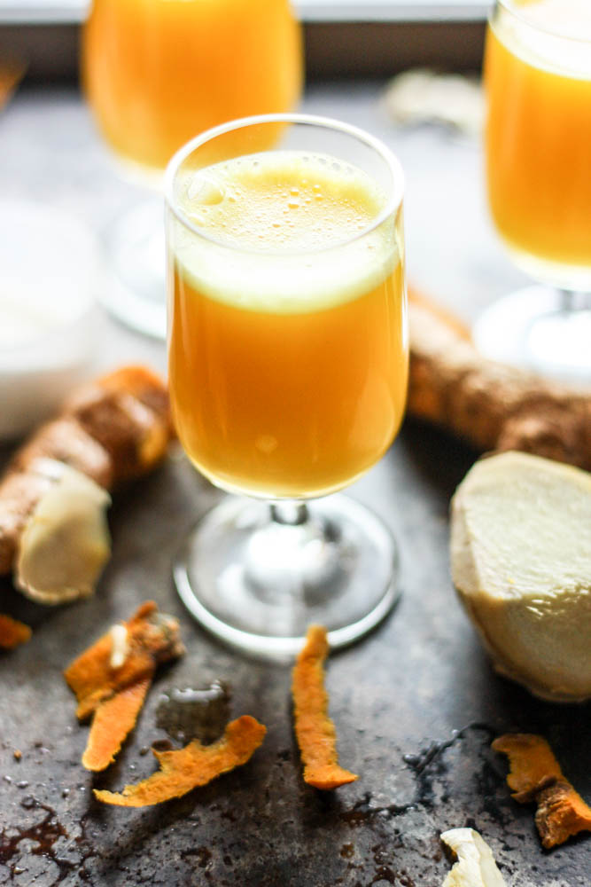 Fresh Turmeric and Ginger Collagen Wellness Shots