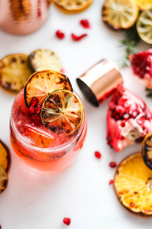 Charred Citrus & Pomegranate Gin and Tonic