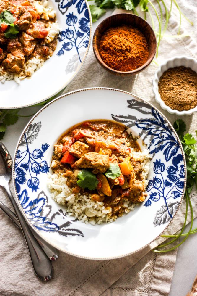 Tiki Masala with Cauli Rice