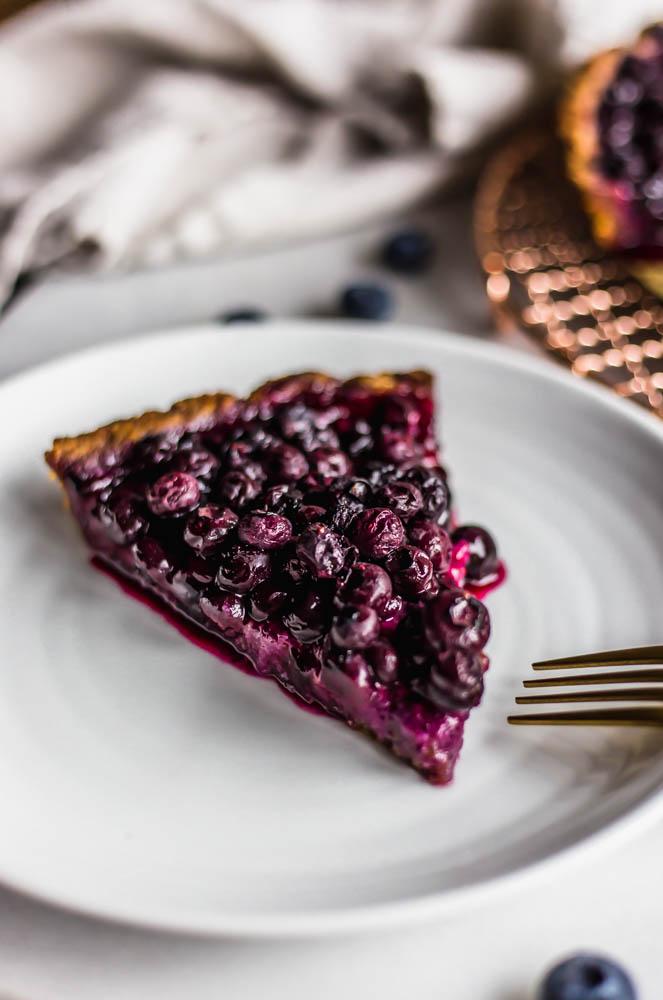 Simple Paleo Blueberry Tart