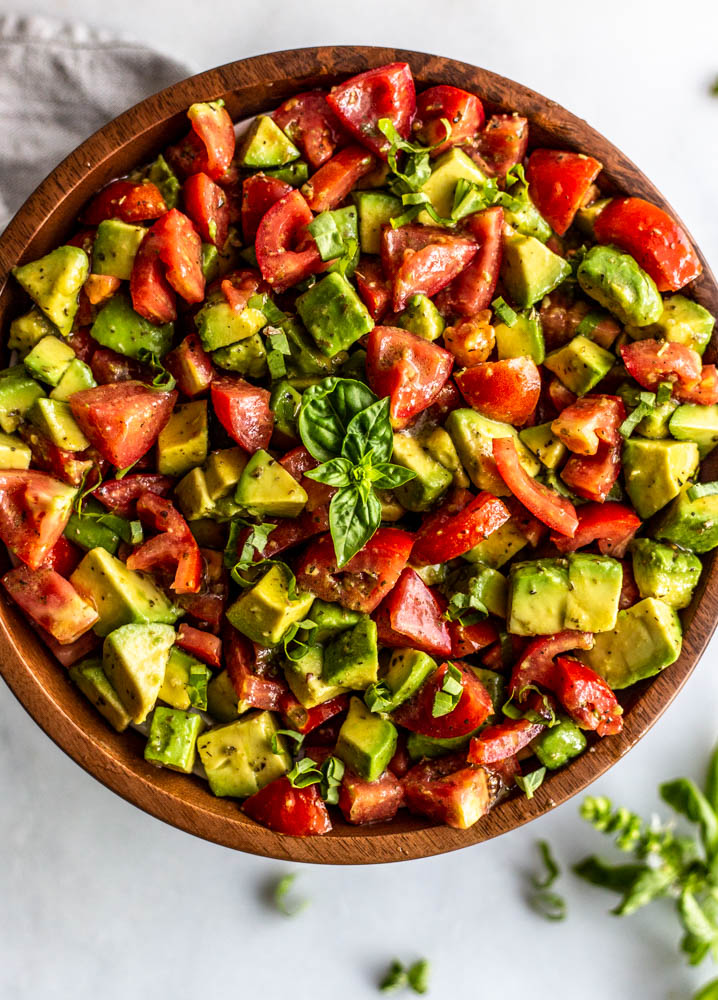 Italian Style Avocado and Tomato Salad