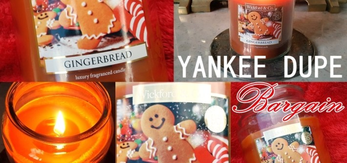 Budget Yankee Candle Alternative: Best Cheap Scented Christmas Candle_Wickford & Co Gingerbread Luxury Fragranced Candle