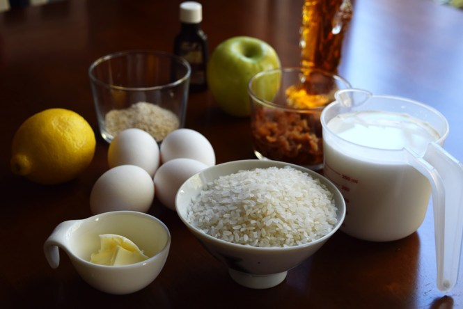 Lemon, Apple, and Litchi Rice Cake ingredients