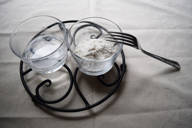 flour and water paste for cheesy chicken gravy