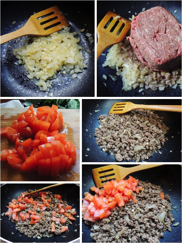 Meat and Potato Moussaka meat filling