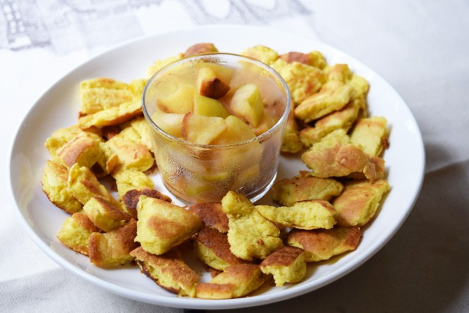 Kaiserschmarn (Emperor's Mess) served with apple sauce