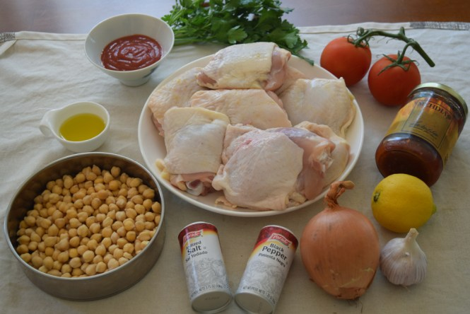 Ingredients Roasted Chicken with Spicy Harissa Chickpeas