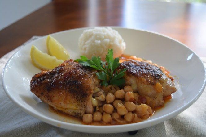 Serve Season Roasted Chicken with Spicy Harissa Chickpeas