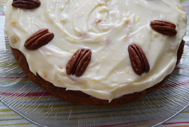 Orange, carrot, and pecan cake