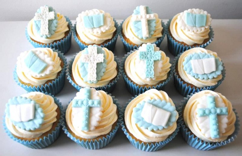 Baby Boy Christening Cake Toppers