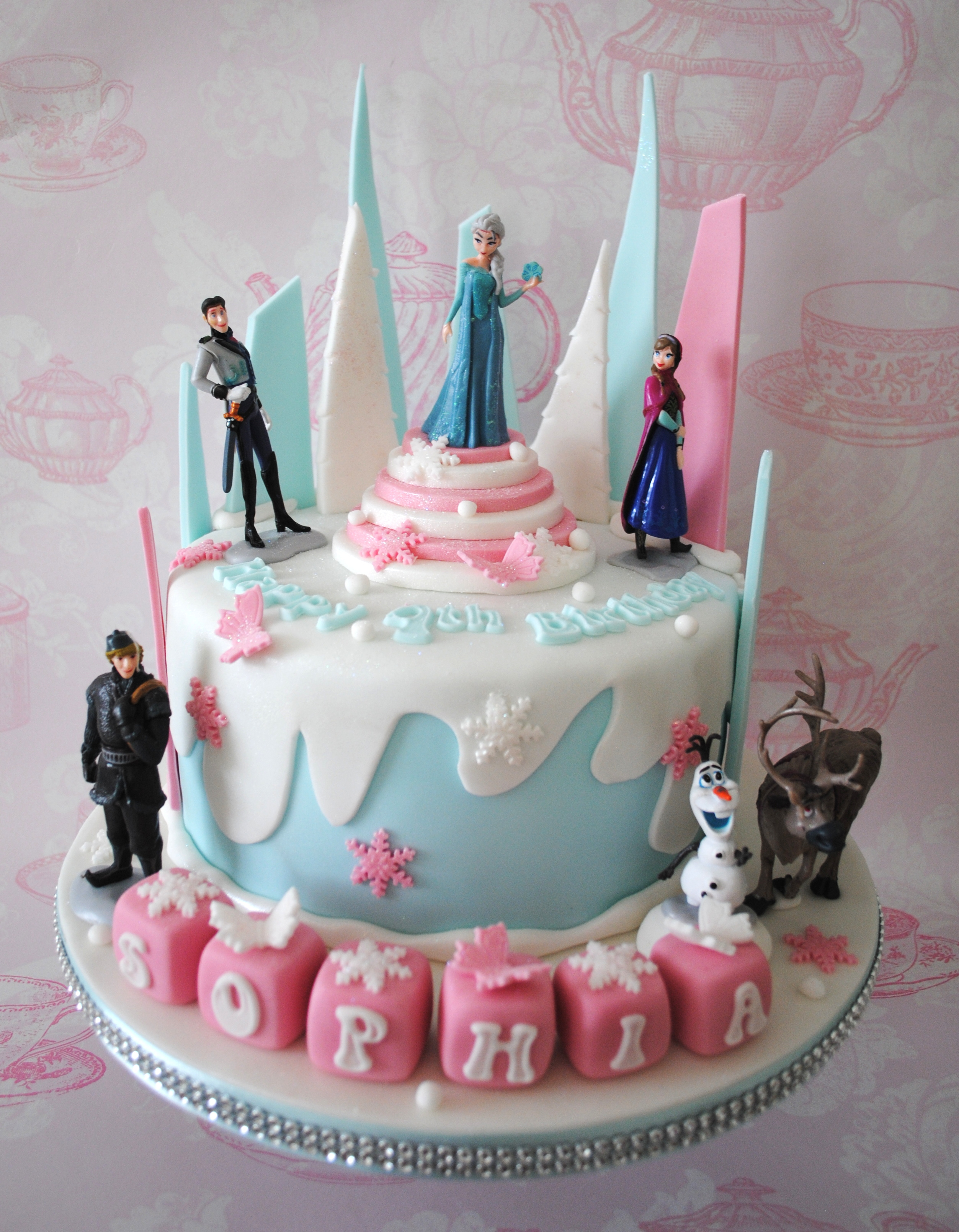 Miss Cupcakes 187 Blog Archive 187 Pink Disney Frozen Birthday Cake