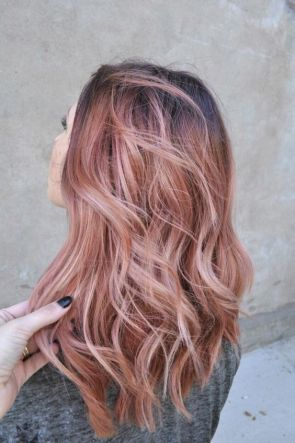new hair rose gold