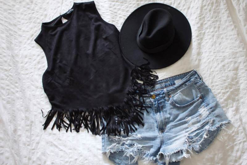 Outfit Ideas Download Festival fringe western top