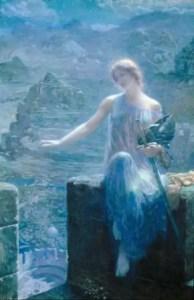 The Valkyrie's Vigil (1906) di Edward Robert Hughes