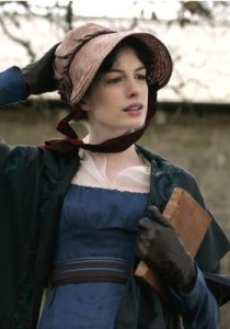 Nel film del 2007 Becoming Jane La protagonista indossa un bonnet in stoffa e paglia.
