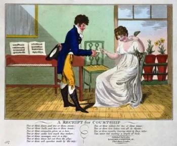 il corteggiamento ai tempi d jane austen