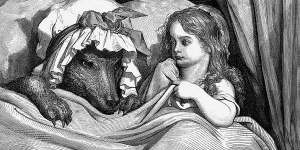 GustaveDore She was astonished to see how her grandmother looked