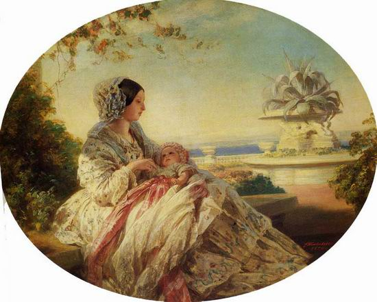 Queen Victoria with Prince Arthur