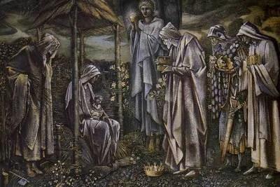 L'adorazione dei magi (Star of Bethlehem) di Edward Burne-Jones, uno dei dipinti di prova per l'arazzo.