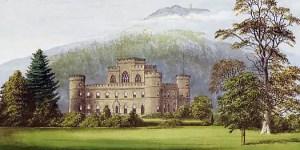 Il castello di Inveraray e l'arpista