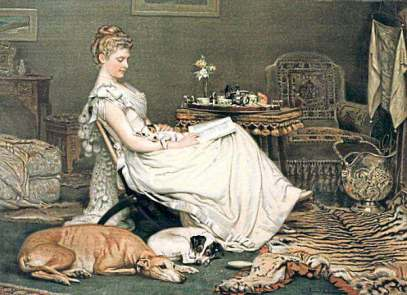 comfort by victorian artist Charles Burton Barber
