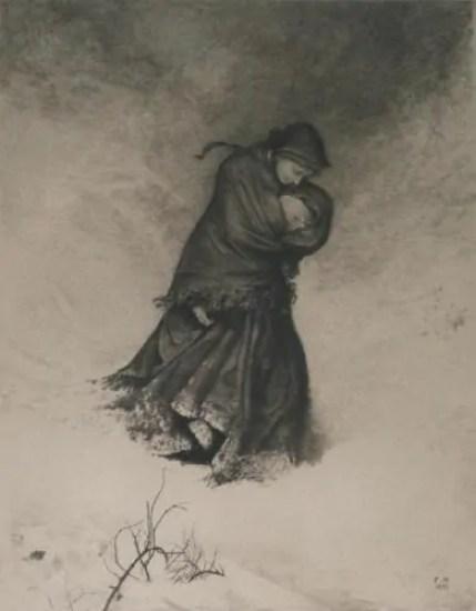 inverno nell'arte vittoriana donna caduta
