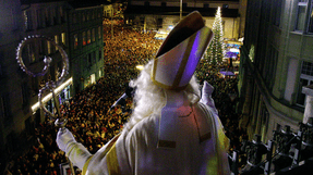 Saint Nicolas celebration in Fribourg, Switzerland