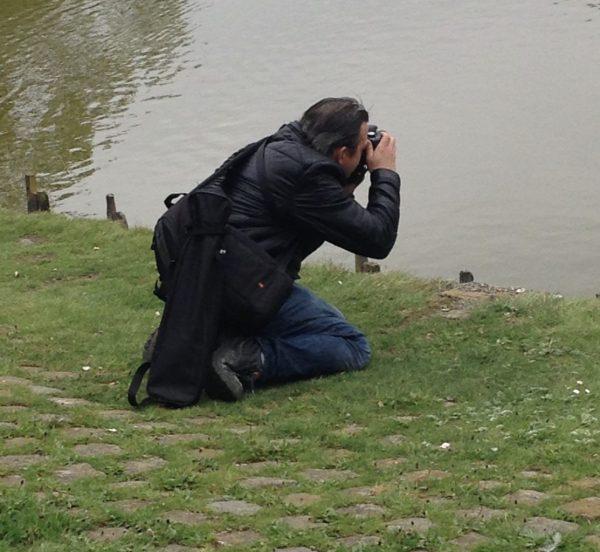 privéfotograaf aan het werk