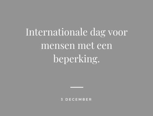 Internationale dag voor mensen met een beperking