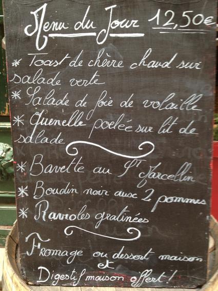 Carte Chez Martial