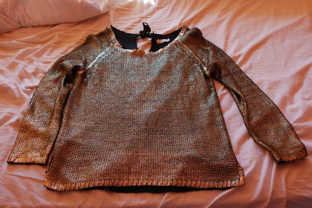 Pull Jacqueline Riu à 14.95€ qui ressemble au pull H&M sold out que je recherchais