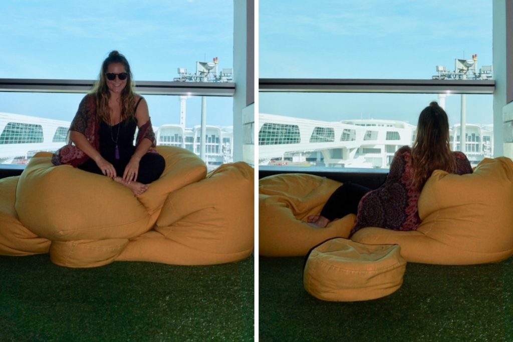 AirAsia Premium Red Lounge Bean Bags