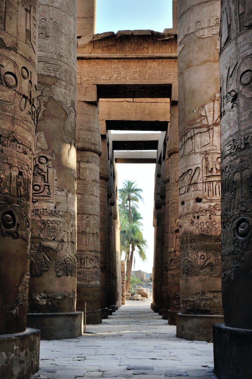 ancient column corridor