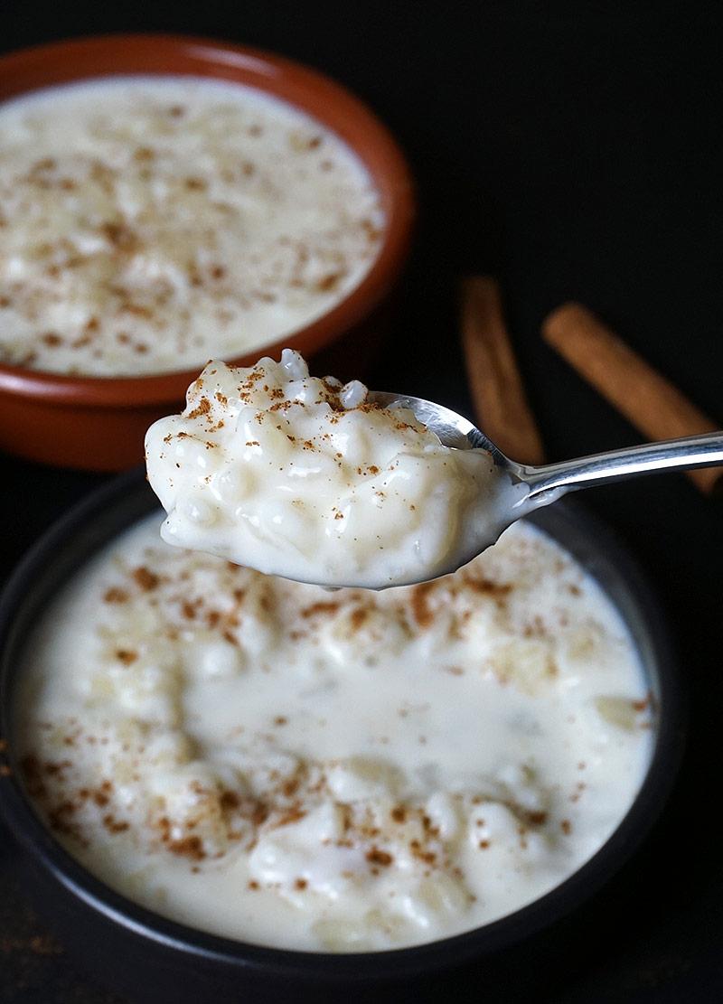 Arroz con leche bien cremoso