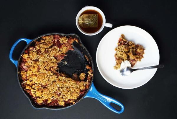 Crumble de ruibarbo