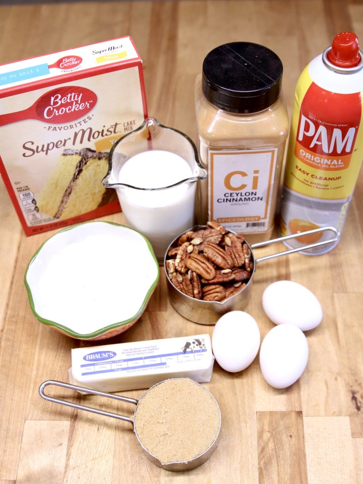 ingredients for cake mix cinnamon coffee cake