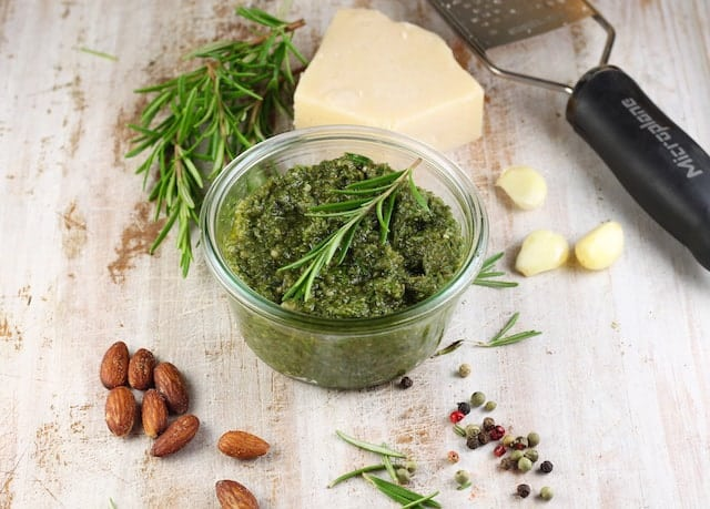 Rosemary Pesto Recipe ~ Miss in the Kitchen