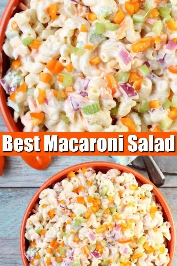 The Best Macaroni Salad Photo Collage