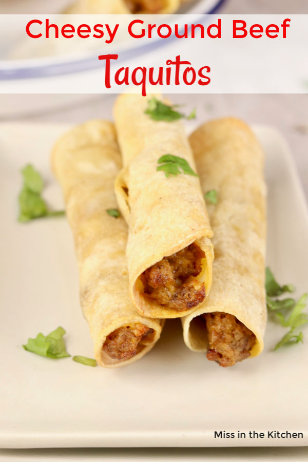 Cheesy Beef Taquitos