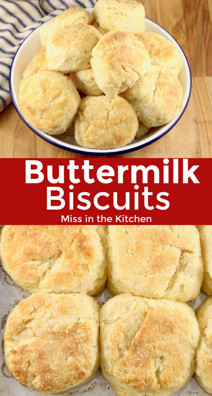 collage of buttermilk biscuits