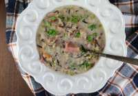 Creamy Ham & Wild Rice Soup from MissintheKitchen