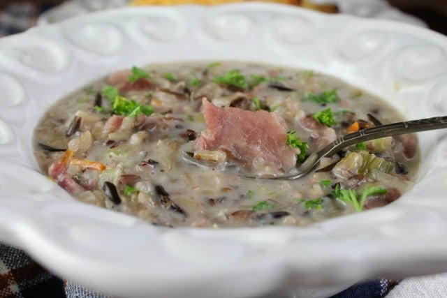 Creamy Ham & Wild Rice Soup - Miss in the Kitchen