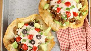 Taco Salad with Salsa-Ranch Dressing