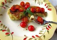 Pesto Potato Cakes with Tomatoes & a Giveaway