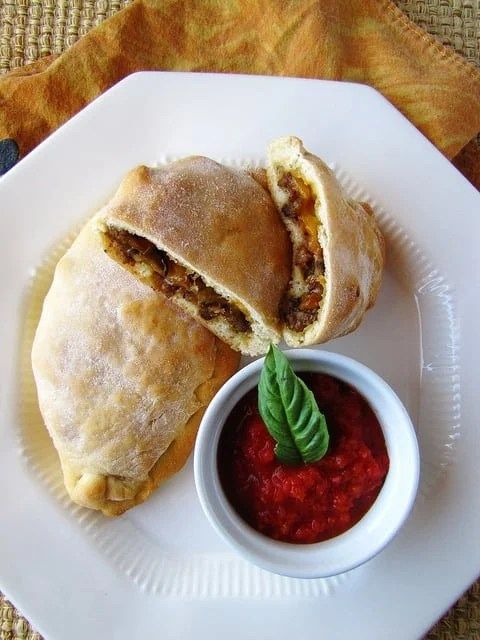 Sausage & Pepper Calzones   Miss in the Kitchen