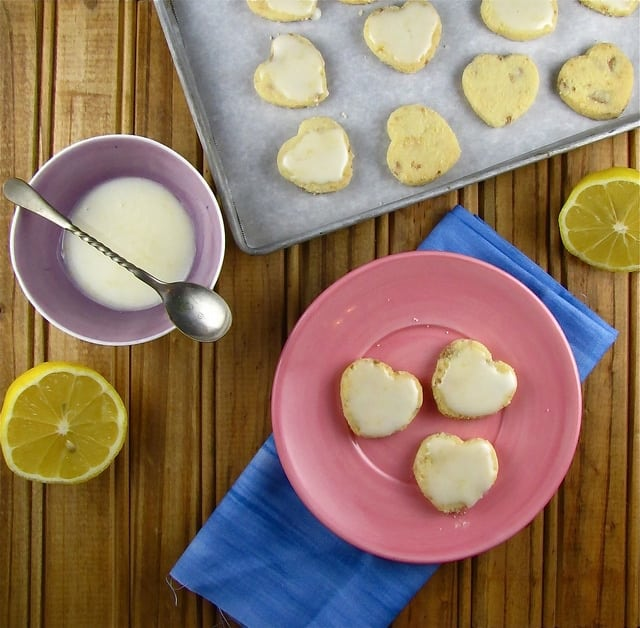 White Chocolate-Lemon Shortbread from www.missinthekitchen.com